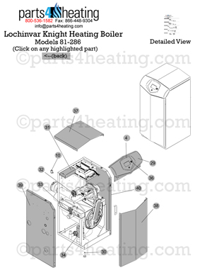 Parts4heating Com Lochinvar Hydronic Boiler Knight Kb 286