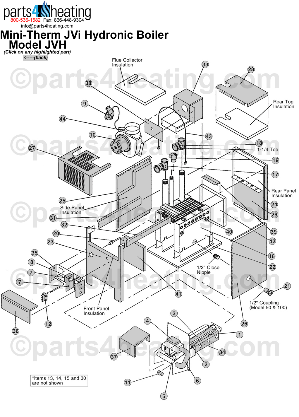 Laars Mini Therm JVi Boiler teledyne laars mini therm jvi jvh laars mighty therm wiring diagram at aneh.co