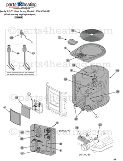 Parts4heating Com Ae Ti Heat Pump With 5 Button Black