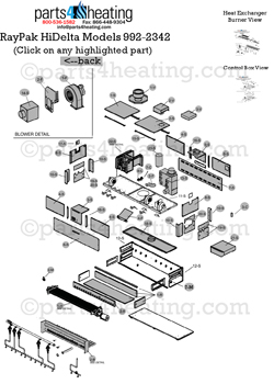THD992 parts4heating com raypak hi delta h9 1802 raypak hi delta wiring diagram at gsmx.co