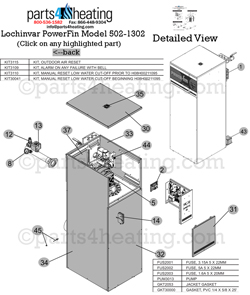 Parts4heating com: Lochinvar PowerFin PF 1002 Water Heater