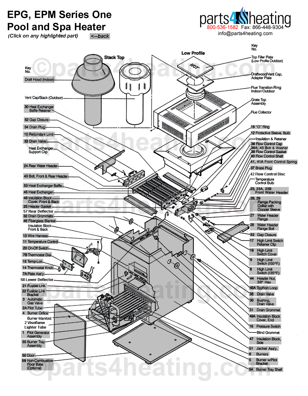 teledyne laars epg epm series one pool and spa heater rh parts4heating com Laars Pennant Boiler Manual laars boiler wiring diagram