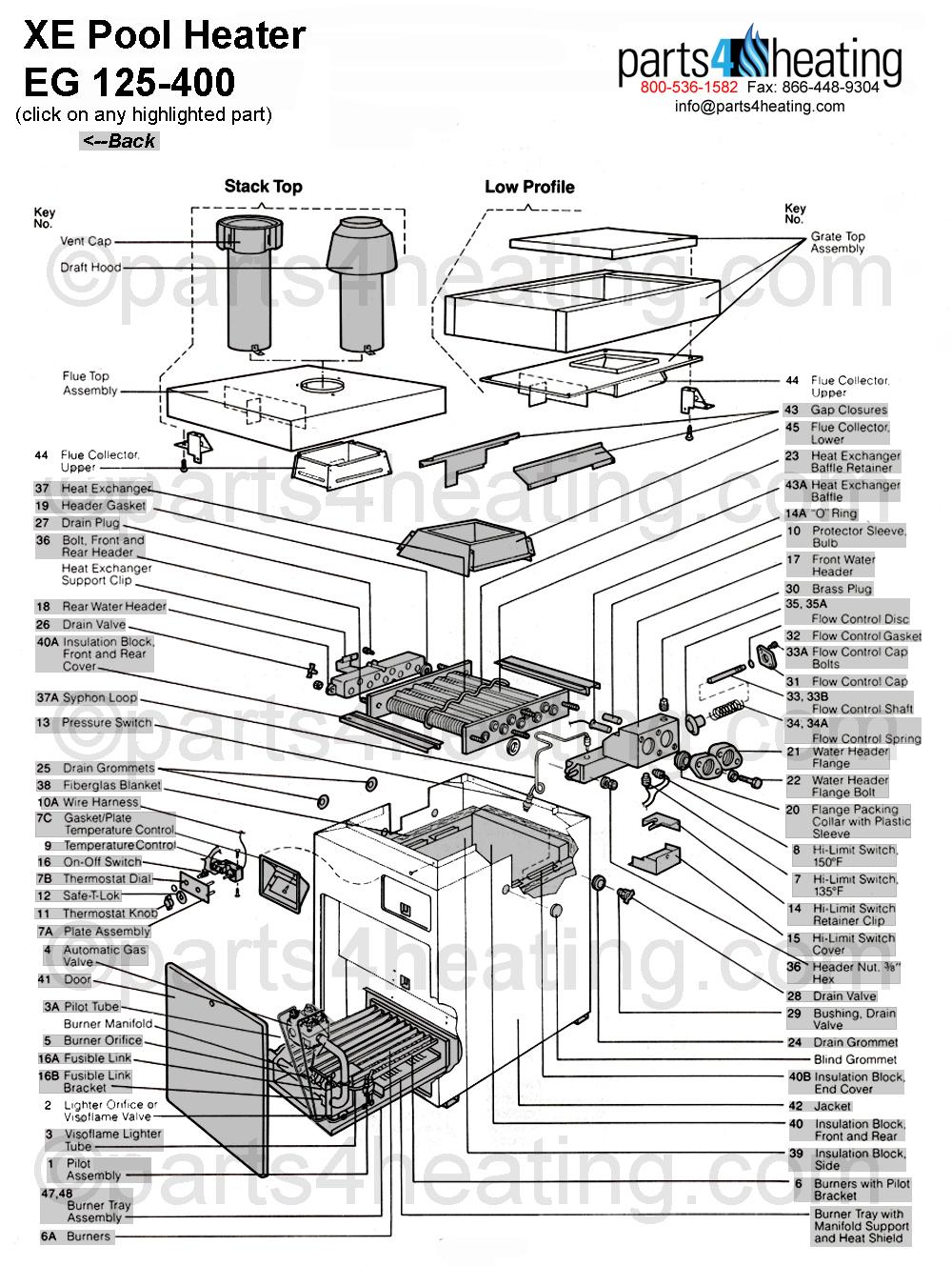 xe pool heater eg 125 400