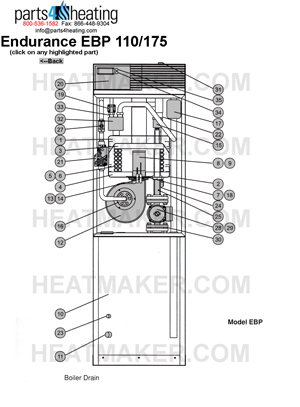 parts4heating com laars endurance ebp110 heater old style rh parts4heating com Weil-McLain Oil Boiler Wiring Diagram laars boiler installation manual