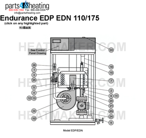 [SCHEMATICS_4PO]  Parts4heating.com: Laars Endurance EDP0110 Heater (New Style) | Laars Pool Heater 110 Volt Wiring Diagram |  | parts4heating.com