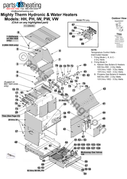 teledyne laars mighty therm hh 1200 rh parts4heating com laars boiler wiring diagram laars boilers wiring diagrams hh 2000