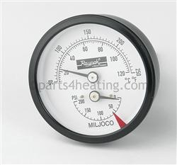 Raypak Xtherm 007399f T P Gauge 0 200 Psi Parts4heating Com