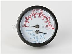 Crown Boiler 950039 Temperature And Pressure Gauge