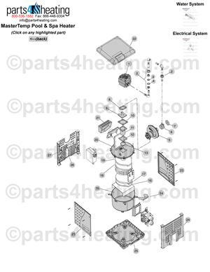 Pentair Mastertemp Heater Parts