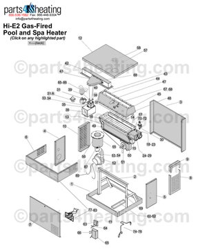jandy wiring diagram parts4heating com pool heaters    jandy    hi e2 heater parts  parts4heating com pool heaters    jandy    hi e2 heater parts