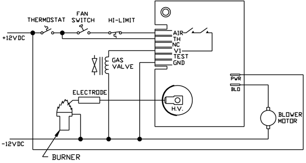 35 535811 113 wiringDiag rv furnace diagram rv ducted furnace \u2022 wiring diagrams j squared co Millivolt Gas Valve Troubleshooting at bakdesigns.co